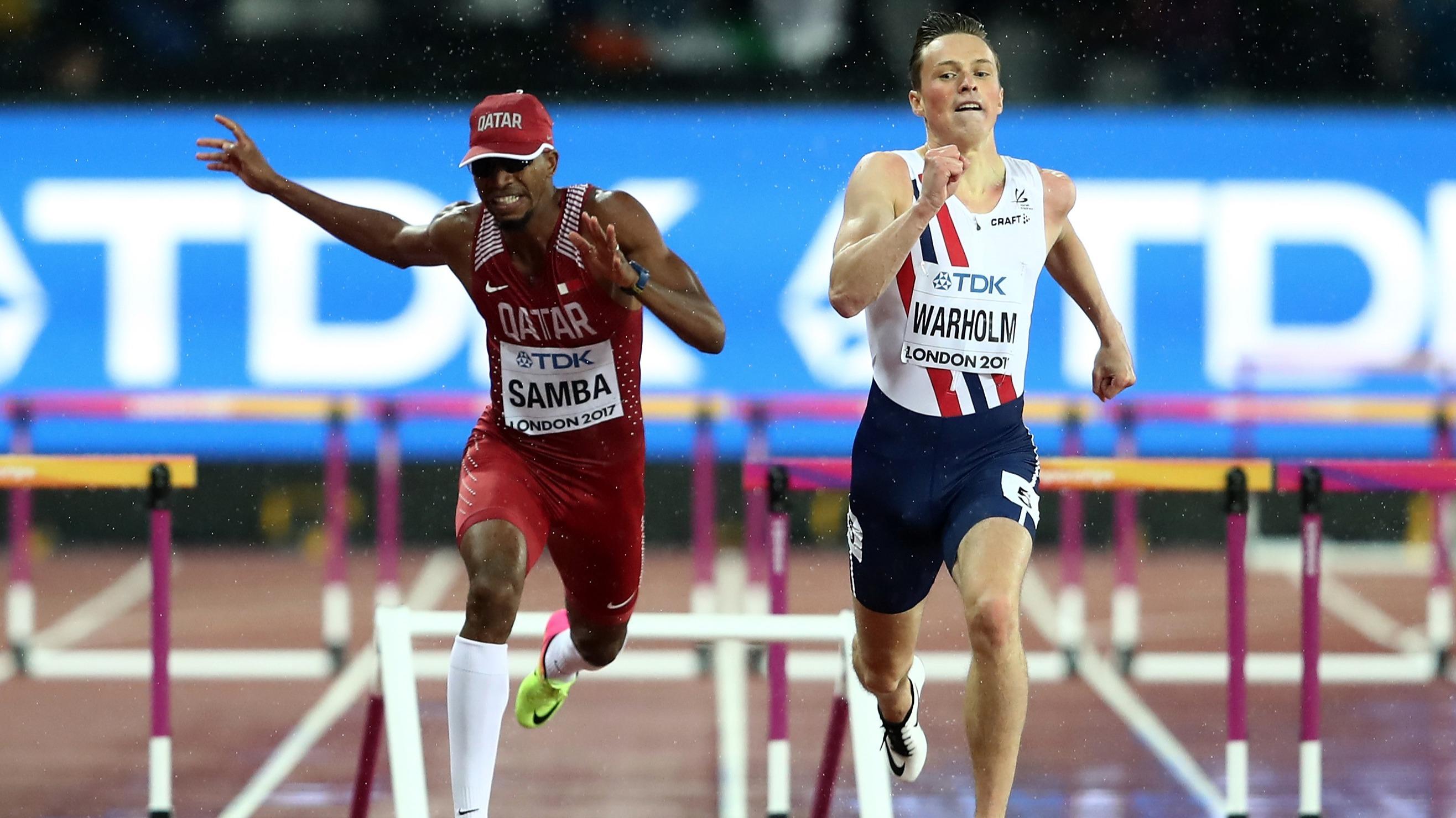 Norway's Karsten Warholm wins 400m hurdles gold