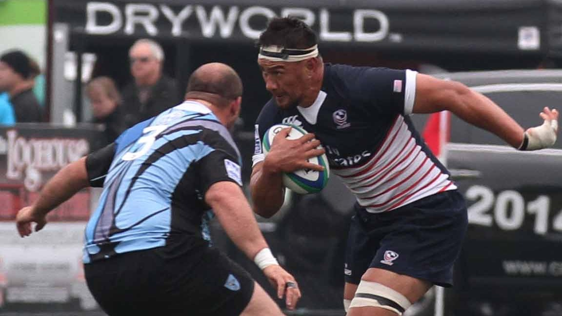 Tai Tuisamoa playing for the USA.